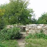 Alte Mauern zwischen dichtem Grün: die Ruine der Isenburg am Rande des Schellenberger Waldes