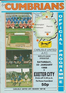 Carlisle United V Exeter City 23-1-88 | by cumbriangroundhopper