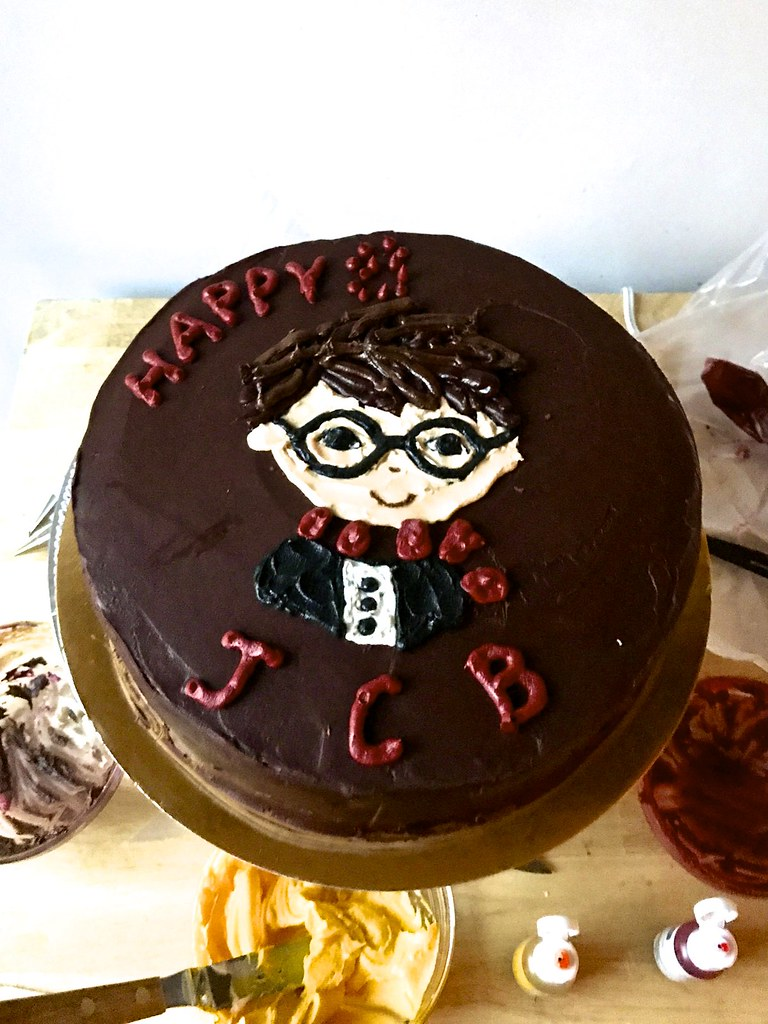 Fabulous How To Harry Potter It If Youre Crazy Double Layer Choco Flickr Funny Birthday Cards Online Barepcheapnameinfo