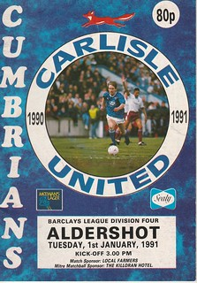 Carlisle United V Aldershot 1-1-91 | by cumbriangroundhopper