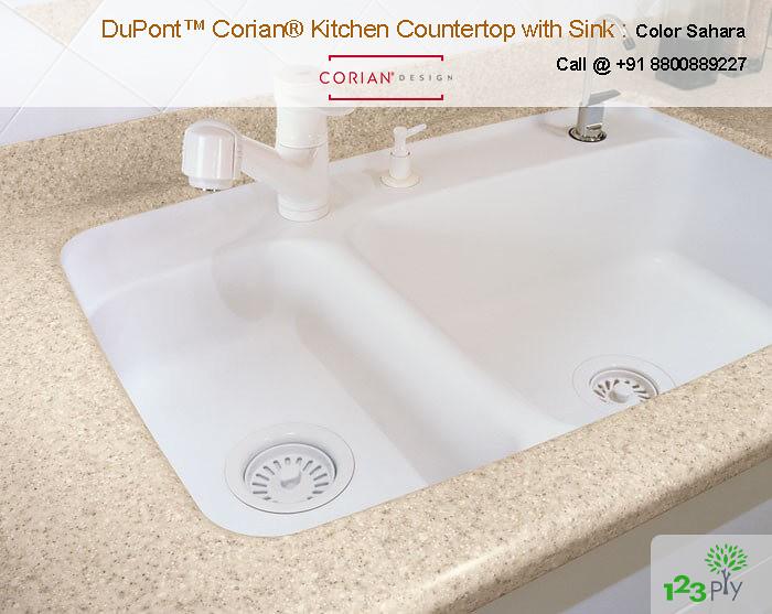Terrific Sahara Color Corian Kitchen Countertop With Sink Sahara Co Download Free Architecture Designs Scobabritishbridgeorg