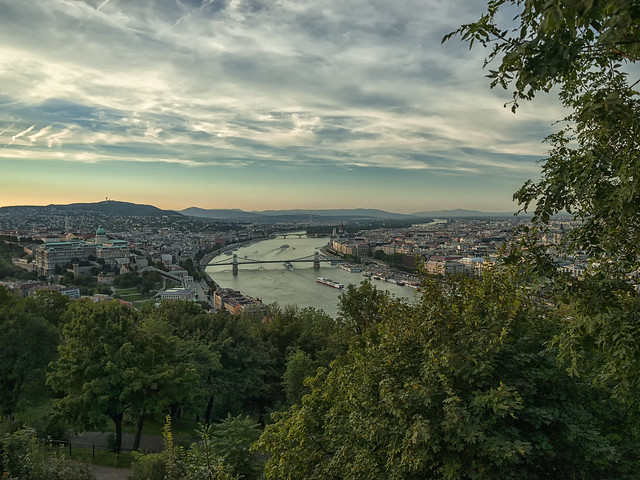 Budapest before sunset time