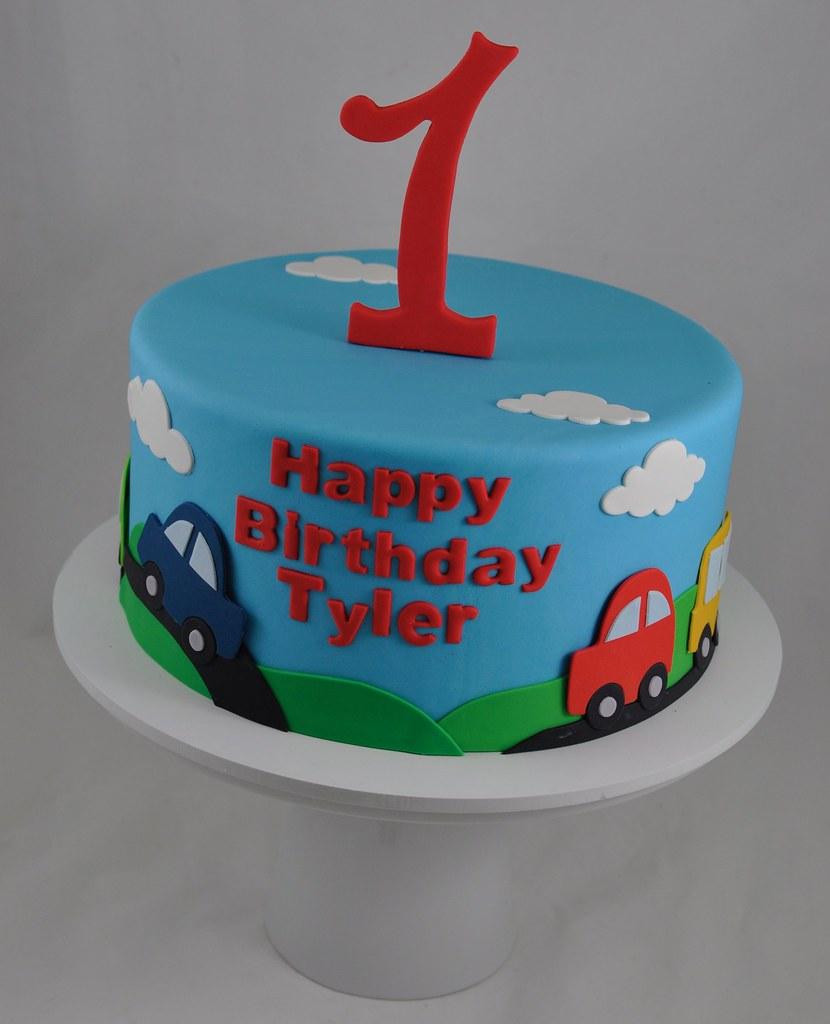 Cool Car Themed Birthday Cake Jenny Wenny Flickr Personalised Birthday Cards Veneteletsinfo