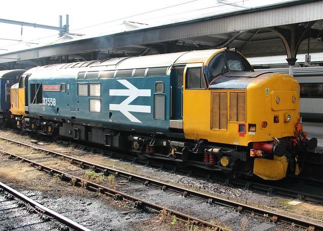 Class 37,  37558 'Avro Vulcan XH558'