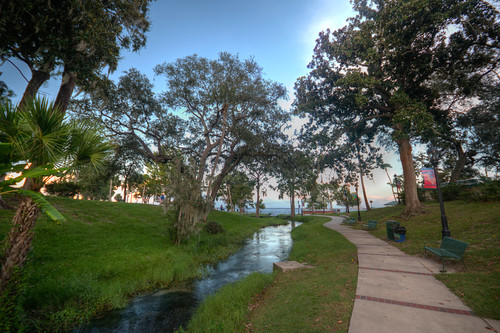 greencovesprings florida fla water path landscape sunset
