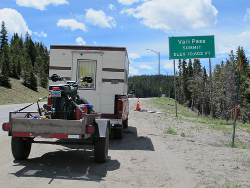 The tRusty truck on Vail Pass, CO. | by WY0WDR