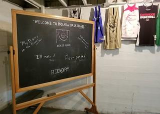 IN, Knightstown-Hoosier Gym Locker Room Blackboard