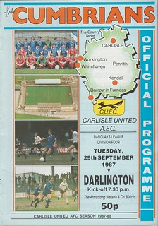Carlisle United V Darlington 29-9-87 | by cumbriangroundhopper