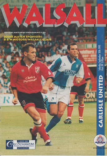 Walsall V Carlisle 30-9-95 | by cumbriangroundhopper