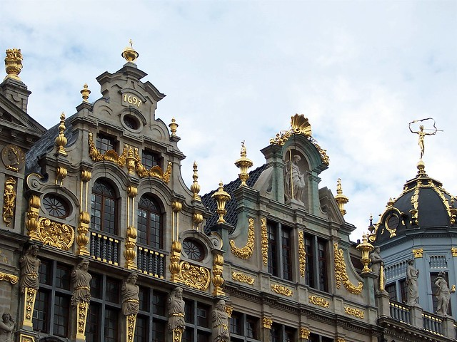 Fabulous ornate detail on Grand Place buildings