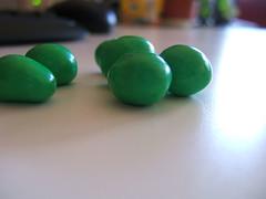 green M&M's
