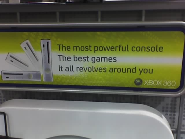 XBox 360 at Best Buy | Typical marketing pitch  I philosophi