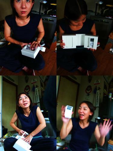 Hiroko got an iPod.