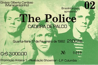 The Police ticket stub
