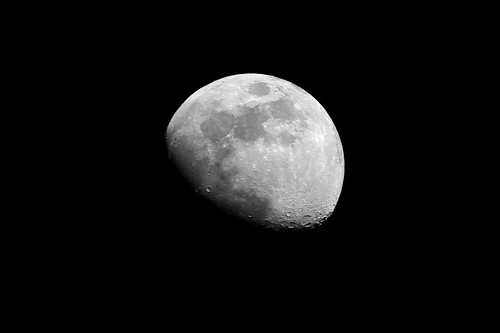 sky bw moon night lenstagged craters gibbous canon75300f456