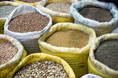 Sacks of pulses and legumes | by Dey