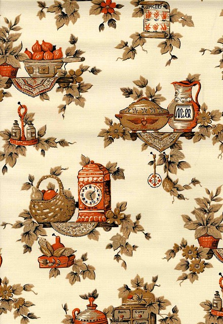 1960s or 1970s vintage wallpaper