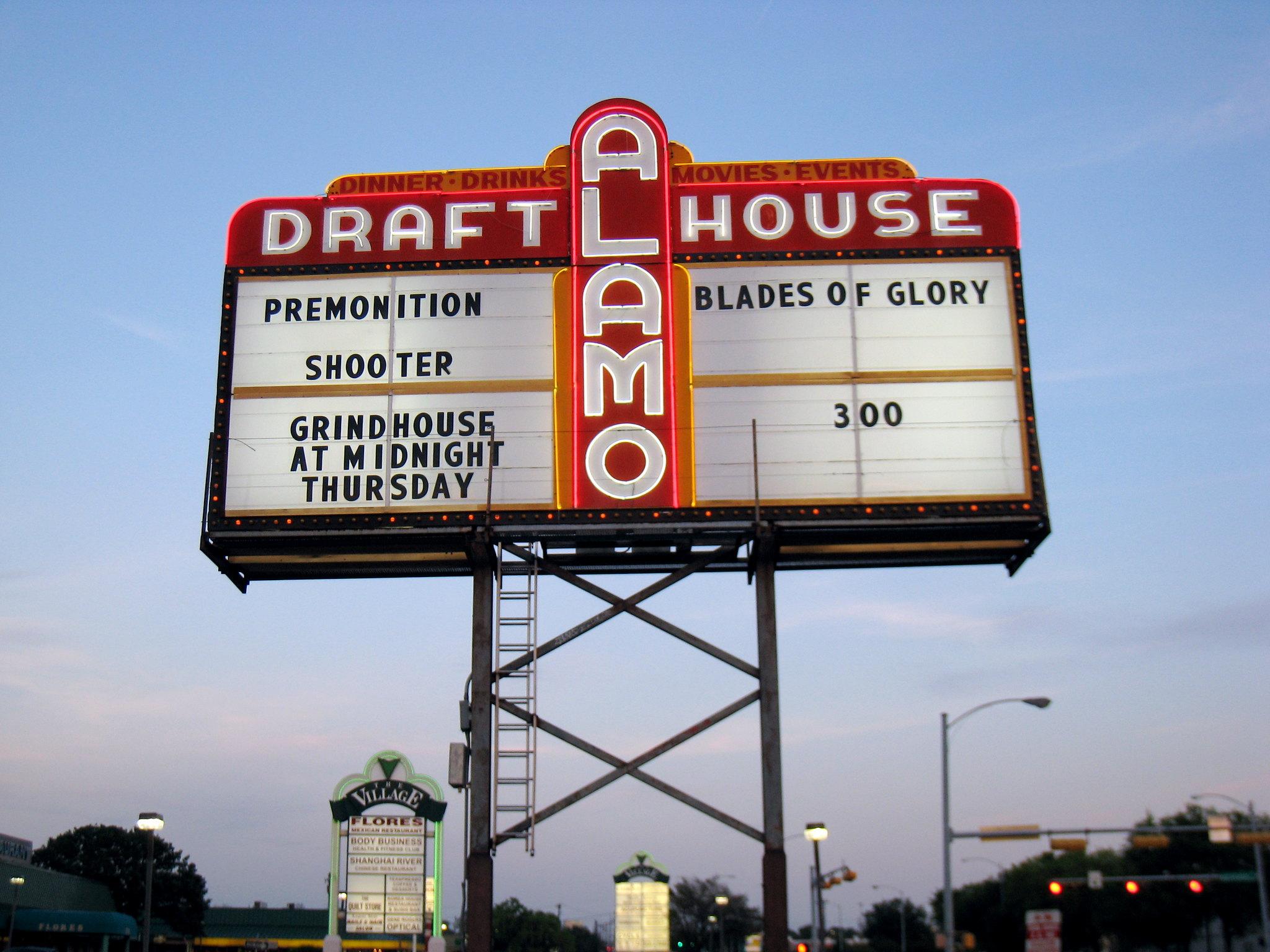 Alamo Drafthouse marquee