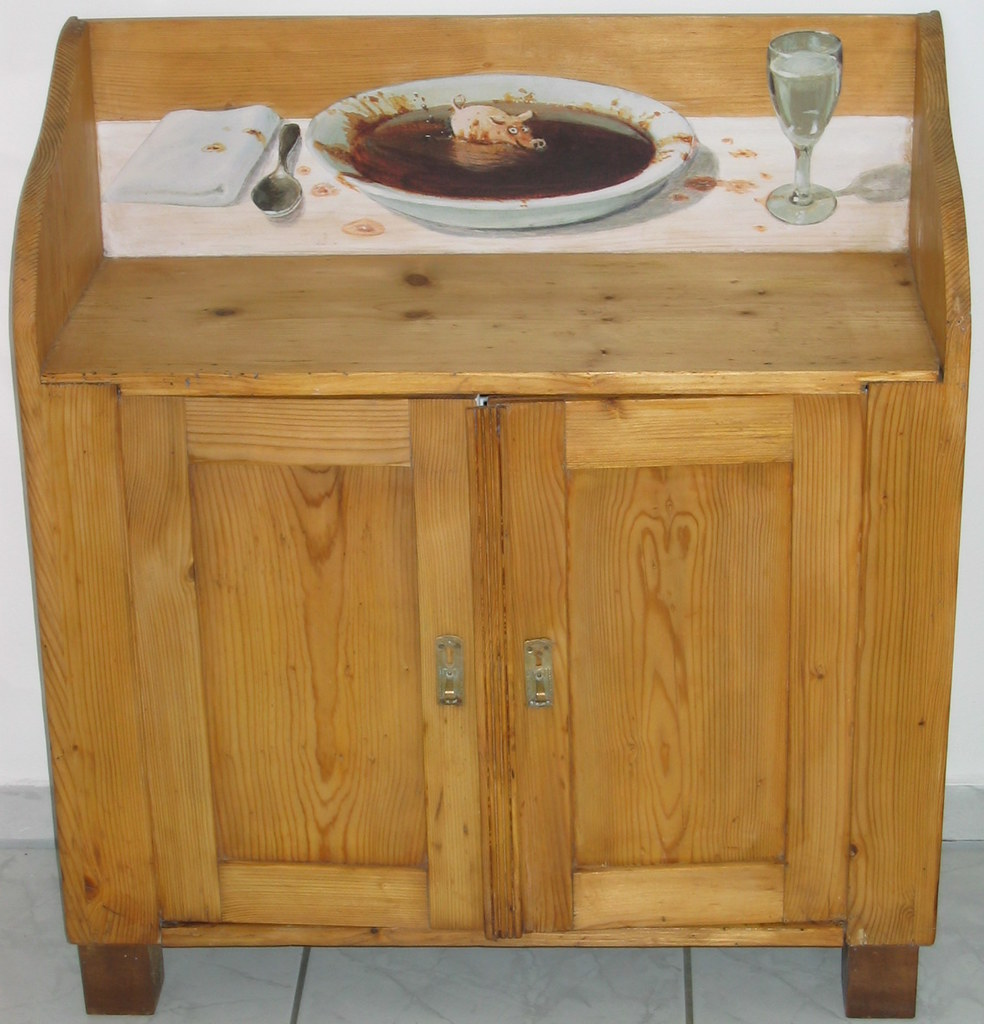 Decoupage furniture | My rustic kitchen cabinet The table ...