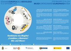 Cartel de la programación de la Semana Europea de la Movilidad en Ermua.