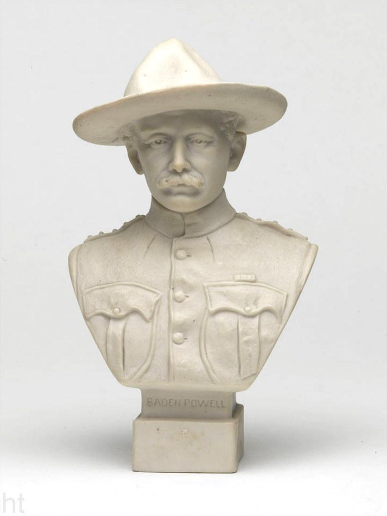 Bust Of Major General Robert Baden Powell Parian Ware Bis