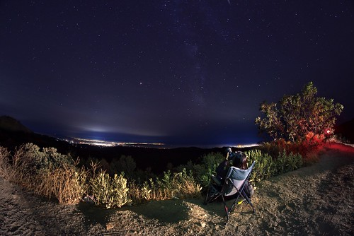 lomaprieta losgatos santacruz california siliconvalley sanfranciscobay sanfranciscobayarea southbay mountain sky outdoor night clear hazy haze star stargazing milkyway bush grass chair person camera photographer nightphotography sony a7 a7ii a7mii alpha7mii ilce7m2 fullframe rokinon12mmf28 fisheye fisheyelens wideangle 2xp raw photomatix hdr qualityhdr qualityhdrphotography fav100