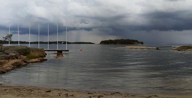 Heavy rain approaching Pentala Island