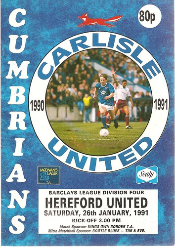 Carlisle United V Hereford United 26-1-91 | by cumbriangroundhopper