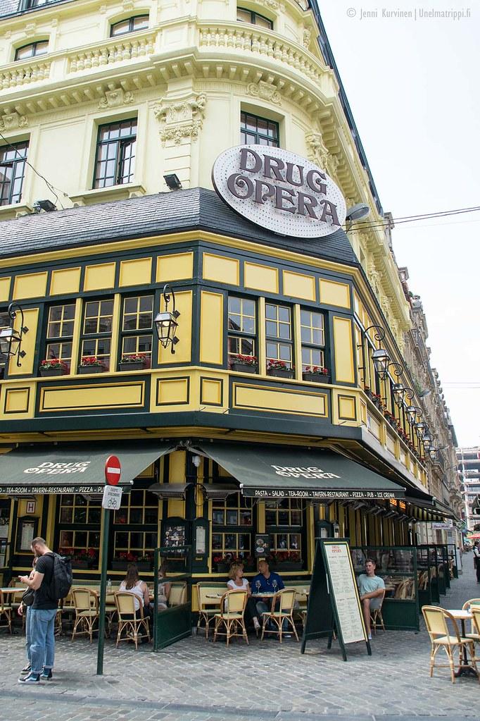 Kaunis kahvilakulmaus Brysselissä