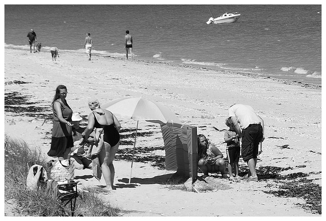 Scène de plage, l'installation 1. Normandie.