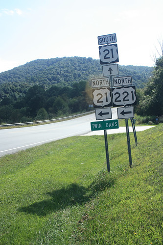 2018 northcarolina signs alleghanycounty us21 us221 mountains