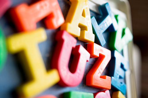 Colorful letter magnets | by wuestenigel