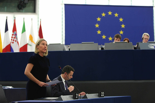 Participation of Federica Mogheriniat the Plenary session of the EP | by European External Action Service - EEAS