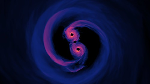 New Simulation Sheds Light on Spiraling Supermassive Black Holes