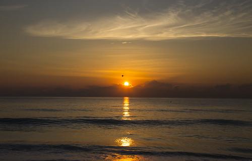 canon6d seascape ocean atlantic clouds sky golden sun sunrise waves beach coast miami florida usa landscape
