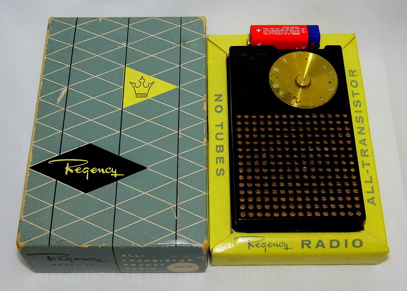 Vintage Regency TR-1 Transistor Radio, The First Commercially Manufactured Transistor Radio In The World, Serial Number 103650, AM Band, 4 Transistors, Made In USA, First Sold In October 1954