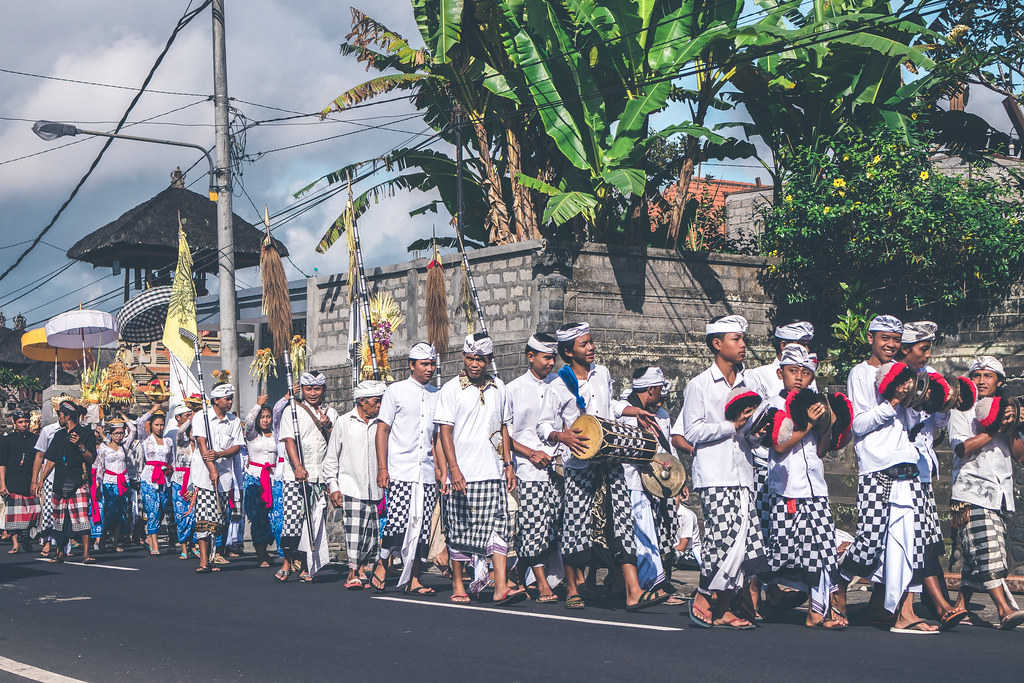 Bali Indonesia July 4 2018 Group Of People On A Balin