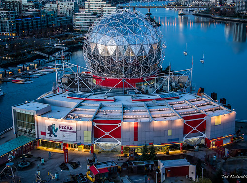 2018 bc britishcolumbia canada cropped falsecreeksunrise nikon nikond750 nikonfx tedmcgrath tedsphotos vancouver vancouverbc vancouvercity vignetting telusworldofscience scienceworld falsecreek falsecreekeast eastfalsecreek water pixar dome sunrise boats red redrule sciencepark cambiebridge bridge cans2s