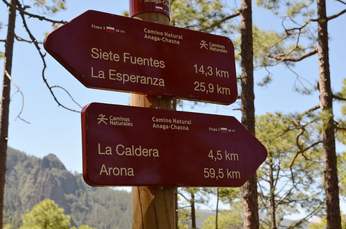 GR131 signpost, Tenerife | by Snapjacs