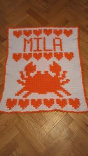 Crab blanket for Mila