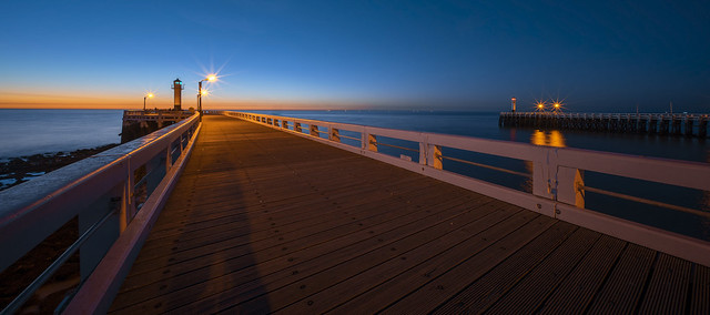 pier and lighthouse (x2)