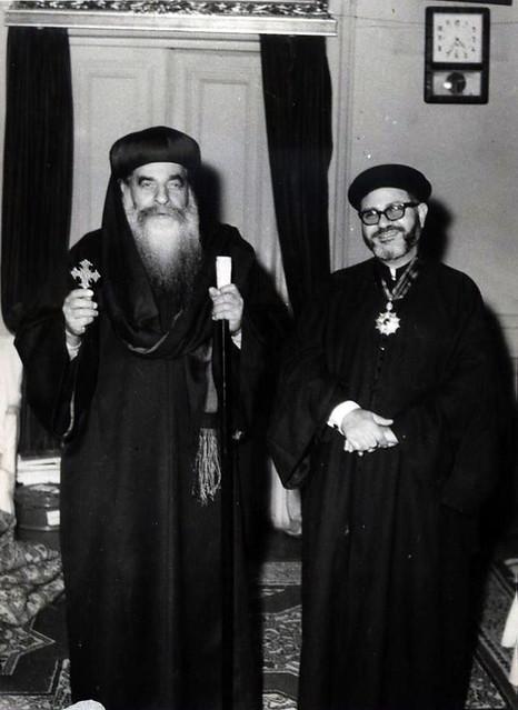 القمص مكارى عبد الله مع قداسة البابا كيرلس السادس - 1