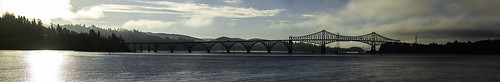 bridge pano water sunrise oregon panorama nikon d7200 ericsteele photography