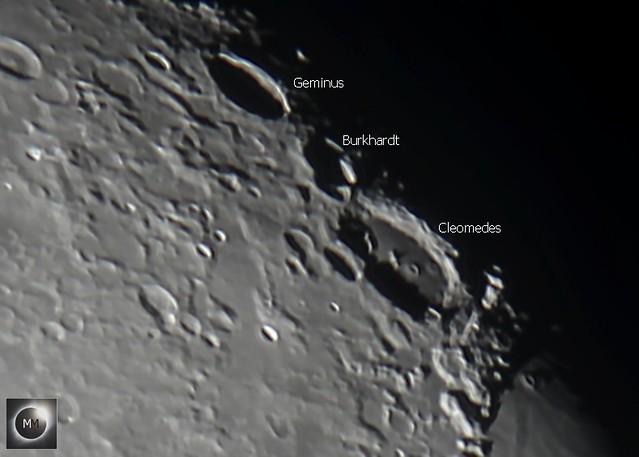 Lunar Craters Geminus, Burkhardt & Cleomedes 26/10/18
