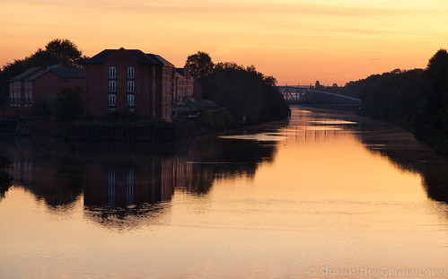 warrington autumn bridge reflection sunrise water stocktonheath manchestershipcanal canal dawn cheshire walton morning