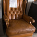 Brown leather club chair E125