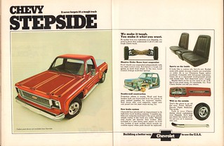 1974 Chevrolet Chevy Stepside Pickup Truck Advertisement Motor Trend February 1974 | by SenseiAlan