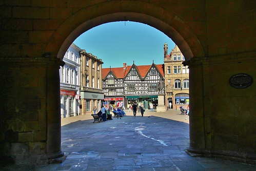 europe england shropshire shrewsbury town streetview sunlight simplysuperb framed blueskies architecture arch