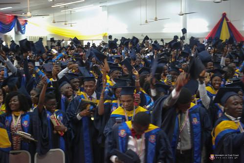Students singing the University Anthem