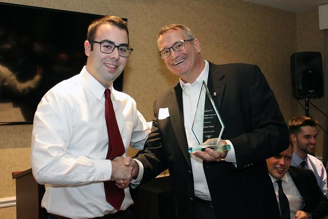 Janes Macy receives Shawn J. Battle Spirit Award